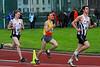 Top drie bijna halfweg de 1.000 M JSM - Sportcomplex Wembley - Kortrijk - België