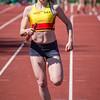 KKS atlete Céline van Acker op de 4 x 100 M - Memorial Guy Dorchain - Wembley Sportcomplex - Kortrijk