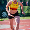 Start 4 x 100 M met KKS atlete Laurence Clays - Memorial Guy Dorchain - Wembley Sportcomplex - Kortrijk