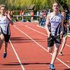Jens Pluym wint de tweede reeks 100 M voor clubgenoot Tibaut Vandelannoote - Memorial Guy Dorchain - Wembley Sportcomplex - Kortrijk