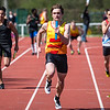 KKS wint de 4 x 100 M met als vierde loper Bert Goethals - Memorial Guy Dorchain - Wembley Sportcomplex - Kortrijk