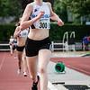 Tweede plaats voor Annouk Dedeyne op de 800 M voor juniores dames - Memorial Leon Denys - Atletiekpiste Izegem - West-Vlaanderen