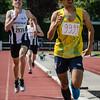 Winst voor de atleet uit Frans Guyana Yehudi Tingo-Farine van USL Montjoly op de 800 M scholieren voor FLAC atleet Falco Defour - Memorial Leon Denys - Atletiekpiste Izegem - West-Vlaanderen