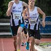 Tim Depickere wint de 800 M Cadetten Jongens voor zijn clubgenoot Tibaut Vandelannoote - Memorial Leon Denys - Atletiekpiste Izegem - West-Vlaanderen