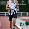Danny Gonnissen op de 3.000 M - Memorial Leon Denys - Atletiekpiste Izegem - West-Vlaanderen