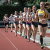 Doortocht van de cadetten dames op de 800 M met Line De Waegenaere (KKS), Sien Mahieu (AZW), Lisa Van Renterghem (AC Deinze) & Femke Viaene (FLAC) - Memorial Leon Denys - Atletiekpiste Izegem - West-Vlaanderen