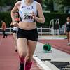Alice Depoortere bij haar doortocht van de 800 M voor scholieren en juniores dames - Memorial Leon Denys - Atletiekpiste Izegem - West-Vlaanderen