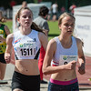 Doortocht van Lisa Van Renterghem (AC Deinze) & Femke Viaene (FLAC) op de 800 M cadetten meisjes - Memorial Leon Denys - Atletiekpiste Izegem - West-Vlaanderen