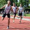 Winst voor Massimo Renson op de 100 M - Memorial Leon Denys - Atletiekpiste Izegem - West-Vlaanderen