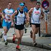 Groepje achtervolgers - Milcobel Run 2014 - Langemark - West-Vlaanderen