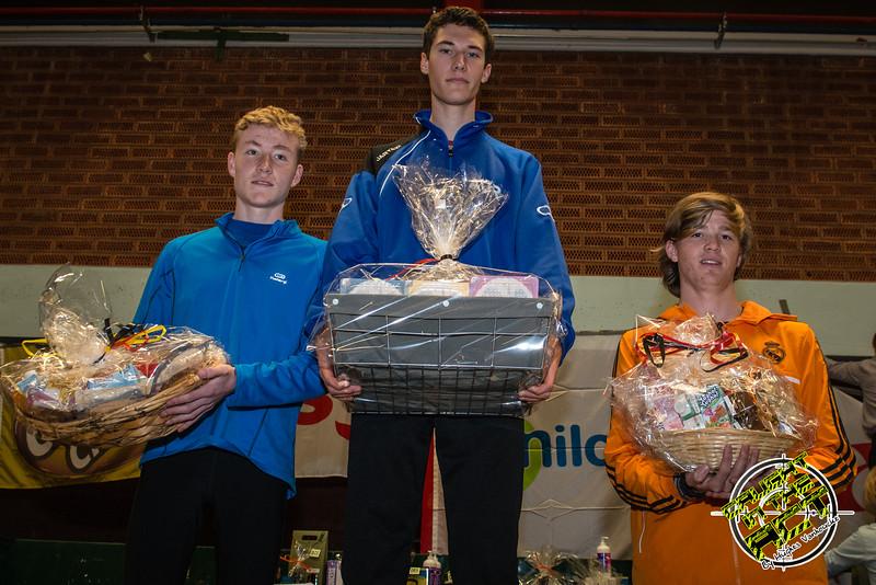 Podium jogging 3,5 Km - Milcobel Run 2014 - Langemark - West-Vlaanderen