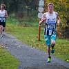 Jonathan Goudeseune uit Ieper loopt op plaats twee - Milcobel Run 2014 - Langemark - West-Vlaanderen