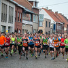 Start van de 7 (dames) & 10,5 Km (heren) - Milcobel Run 2014 - Langemark - West-Vlaanderen