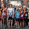 Klaar voor de start van de 3,5 Km - Milcobel Run 2014 - Langemark - West-Vlaanderen