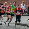 Kopposities na een paar minuten lopen - Milcobel Run 2014 - Langemark - West-Vlaanderen