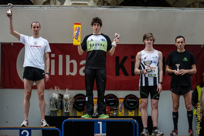 Podium Milla Internacional de Bilbao: #2  Jorge Alonso Diez, # 1 Ignacio Peña Estrada, # 3 Yngwie Vanhoucke & # 4 Fernando Suances