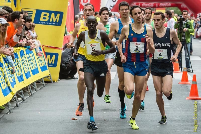 Elite: Dickson Huru (5 - Uganda), Manuel Olmedo (2 - Campeón de España 1.500 M en Pista Cubierta - Sevilla) & Victor Garcia Laseca (4 - Campeón de España 3.000 M - Madrid)