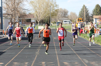 Mitchell's Christian Perez in the boys 200 meter dash