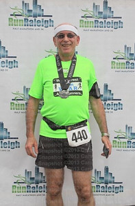 Run Raleigh Half Marathon October, 2013