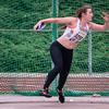 Thalissa Caers (VABCO Mol) winnares bij de scholieren met een worp van 39,56 M