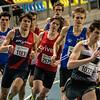 Posities na één ronde - 800 M - Open Belgisch Studenten Kampioenschap - BLOSO Topsporthal - Gent