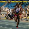 Finale 60 M Dames met Fanny Appes op kop- Open Belgisch Studenten Kampioenschap - BLOSO Topsporthal - Gent