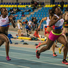 Winst voor Fanny Appes op de 60 M Dames- Open Belgisch Studenten Kampioenschap - BLOSO Topsporthal - Gent