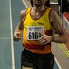 Aankomst van KKS atleet Kurt Englebert - 800 M - Open Belgisch Studenten Kampioenschap - BLOSO Topsporthal - Gent