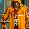 Chillen in afwachting van de wedstrijd - 800 M - Open Belgisch Studenten Kampioenschap - BLOSO Topsporthal - Gent