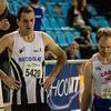 Start van de derder reeks 800 M met Koen De Ridder & Gaetan Piette - 800 M - Open Belgisch Studenten Kampioenschap - BLOSO Topsporthal - Gent