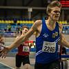 Belgische stundententitel voor Viktor Benschop - 800 M - Open Belgisch Studenten Kampioenschap - BLOSO Topsporthal - Gent