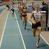 Winst voor Flavie Vanbesien uit Poperinge op de 400 M - Open Belgisch Studenten Kampioenschap - BLOSO Topsporthal - Gent