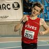 Positie drie aanhouden - 800 M - Open Belgisch Studenten Kampioenschap - BLOSO Topsporthal - Gent