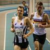 Aankomst van Lars Oosterlinck - 800 M - Open Belgisch Studenten Kampioenschap - BLOSO Topsporthal - Gent