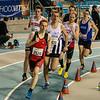 Ingang van de laatste ronde - 800 M - Open Belgisch Studenten Kampioenschap - BLOSO Topsporthal - Gent