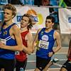 Halfweg wedstrijd - 800 M - Open Belgisch Studenten Kampioenschap - BLOSO Topsporthal - Gent