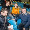 FLAC Ieper delegatie met vlnr Koen De Ridder, Lars Oosterlinck, Yngwie Vanhoucke & Armand Parmentier - Open Belgisch Studenten Kampioenschap - BLOSO Topsporthal - Gent