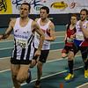 Koen De Ridder van FLAC Ieper aan leiding - 800 M - Open Belgisch Studenten Kampioenschap - BLOSO Topsporthal - Gent