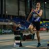 Bjorn De Decker met een sprong van 7,34 M - Verspringen - Open Belgisch Studenten Kampioenschap - BLOSO Topsporthal - Gent
