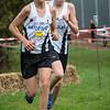 Wout Vandenberghe & Bavo Desmet op een dikke honderd meters van het slot van de eerste ronde bij de jongens cadetten