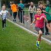 Stien Verdonck (FLAC) met achter zich Philine Kesteloot, een adere FLAC atlete