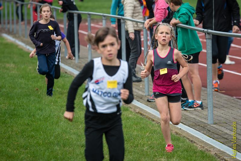 Amaya Vanhoucke (# 0191) uit Menen werd zevende