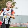 Amber Nuytten heeft reeds een ruime voorsrprong in het slot van de eerste ronde bij de meisjes cadetten