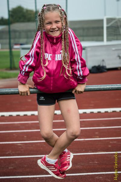 Amaya Vanhoucke voor de wedstrijd