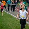 Lore Van Hecke van AV Molenland die lange tijd op kop liep werd tweede