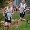 Alec Vandenbulcke & Wout Vandenberghe in het slot van de eerste ronde bij de jongens cadetten