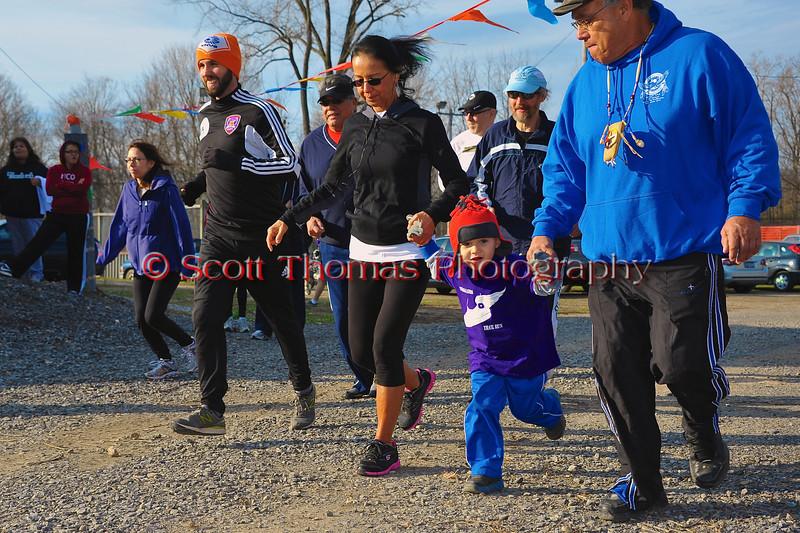 Fun Run of the 2012 Onondaga Nation Trail Run.