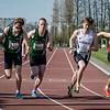 Start 800 M Heren met vlnr Thomas Dejean (CABW), Arthur Bruyneel (ACME), Chirstof Pieters (ACME), Yngwie Vanhoucke (FLAC Ieper), Thomas Florizoone (RFCL) & Williame Timothy (STAX) - Open Meeting - VITA Ninove - Oost-Vlaanderen