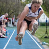 Goud bij de scholieren dames voor Lotte Thomas met een sprong van 4,89 M @ Provinciaal Kampioenschap Atletiek - De Lenspolder - Nieuwpoort