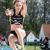 Nore Vandekerckhove, zilver bij de meisjes cadetten met een sprong van 4,97 M @ Provinciaal Kampioenschap Atletiek - De Lenspolder - Nieuwpoort